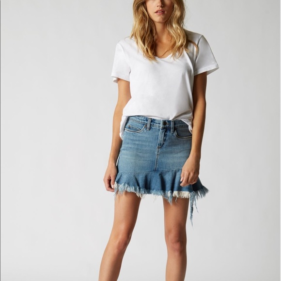 big selection super cheap compares to on sale BLANKNYC Asymmetrical Ruffle Denim Skirt NWT